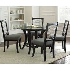 steve silver company cayman 5 piece round dining table set in black pertaining to inspirations 4