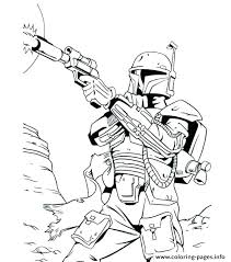 Nerf Gun Coloring Pages To Print Star Wars Bounty Hunter Printable