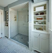 Traditional White Bathrooms 30 Great Pictures And Ideas Basketweave Bathroom Floor Tile