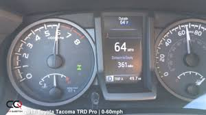 2017 Toyota Tacoma TRD PRO | 0-60mph Acceleration Test! - YouTube