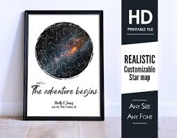 July 2018 Star Chart Custom Star Map Star Chart Anniversary Gift Engagement Gift Newborn Gift Star Print Night Sky Print Gift For Couples Map By Date W25