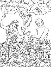 Small Picture Adam and Eve Disobey God Command Coloring Pagejpg 600786