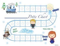 Princess Potty Chart Printable Snow Princess Bilingual Potty Training Chart Download