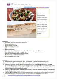 Cookbook Format Template Cookbook Template 31 Free Psd Eps Indesign Word Pdf Format Recipes