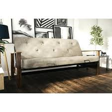 better homes and gardens futon wood arm