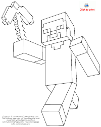 Steve From Minecraft Coloring Page Ausmalbilder Minecraft