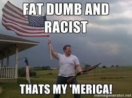 fat dumb and racist thats my 'merica! - american flag shotgun guy ... via Relatably.com