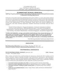 School Administrator Principal S Resume Sample Pinterest
