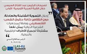 """Abdelfattah Elsisi a Twitter: """"مقتطفات من كلمة السيد الرئيس عبد الفتاح  السيسي خلال افتتاح القمة العربية الأوروبية الأولى… """""""