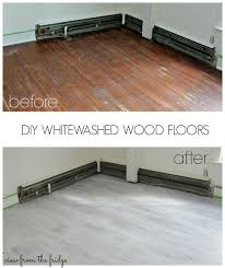 how to whitewash wood floors yourself easy to follow tutorial from view from the fridge what a huge difference this makes in the room