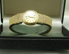 bueche girod wristwatches 1970 s vintage ladies 9ct gold bueche girod quartz bracelet watch