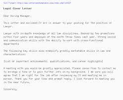 Legal Cover Letter Job Application Letter