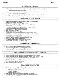 Gallery of sample resumes for internships