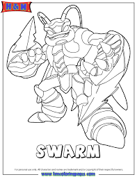 Small Picture Skylanders Giants Air Swarm Coloring Page H M Coloring Pages