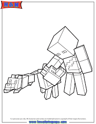 Minecraft Character And Wolves Coloring Page H M Coloring Pages