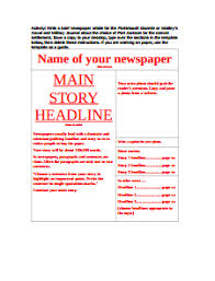 Newspaper Template Free Download Edit Fill Create And Print