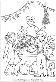 Small Picture Harvest Festival Colouring Page