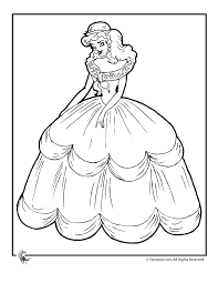 Cinderella Coloring Page Woo Jr Kids Activities