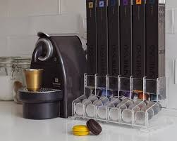 nespresso coffee cups clear large nespresso coffee capsules holder 60 capsule storage countertop stand coffee holder