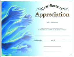 Blank Certificate Of Appreciation Template Free Doc Display Single