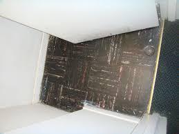 brown asbestos floor tiles