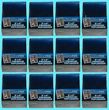 Size Of A Baseball Card Details About 300 Ultra Pro Premium Toploaders New 3x4 Standard Size Card Sleeve Baseball