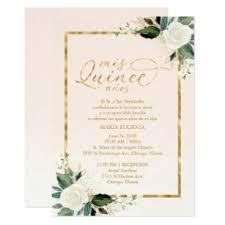 Invitations Quinceanera Quinceanera Invitation Spanish Pink Gold Foil