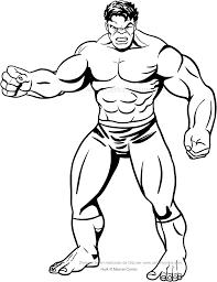 Disegno Di Hulk Frontale Da Colorare