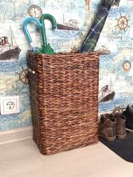 Hallway basket, Tall storage bin, Deep basket, Wicker basket for ...