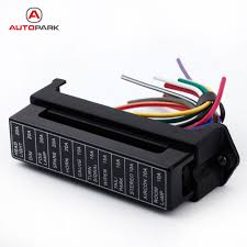 online get cheap car fuse box wiring aliexpress com alibaba group 12 way atc ato 2 input 12 ouput wire 12v volt fuse box 24v
