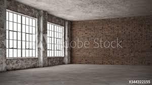 empty loft industrial grunge interior