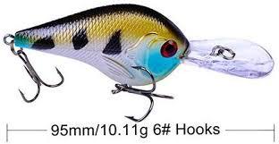 FJJ-DIAOYU, <b>1PCS 9.5CM</b> 11G Lifelike <b>Crankbait</b> Fishing Lure ...