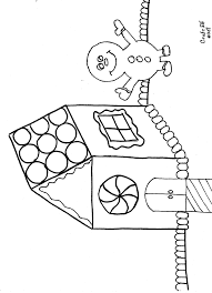 Gingerbread House Gingerbread Man Free Coloring Page