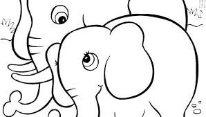 Elephant Mandala Coloring Pages Easy