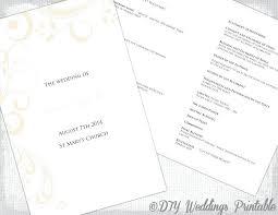 Wedding Booklet Template Wedding Program Booklet Template