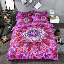 hot pink and orange duvet covers mandala fl bedding set queen size bohemian duvet cover sets