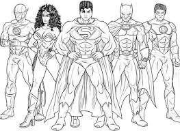 Small Picture Kids Drawing of Justice League Coloring Page NetArt
