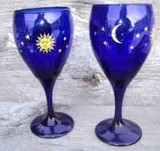 blue wine glasses cobalt blue wine glasses best farm fresh vintage images on blue wine glasses