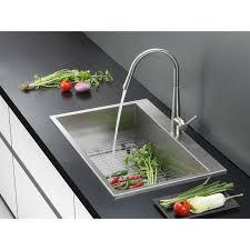 ruvati rvh8010 overmount 16 gauge 25 kitchen sink single bowl