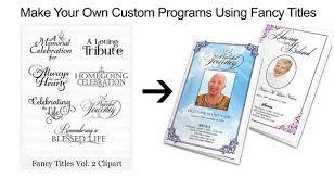 How To Make A Funeral Program Diy Funeral Programs And Memorial Booklets Elegant Memorials