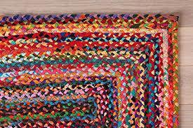 2x3 feet braided rug rectangular floor mat indian cotton rug handmade doormat multi color rugs decorative