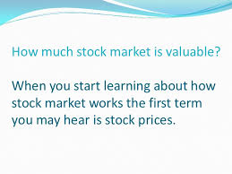 Stock Market Lesson How Stock Market Works