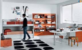 furniture for teenagers. orange black white contemporary teenagers room furniture for e
