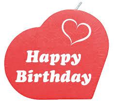 Happy Birthday Herzkerze Rot Carina Geschenkech