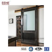malaysia half moon glass solid wooden door