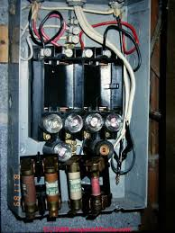 main fuse or circuit breaker inspection should you pull a main fuse Home Fuse Panel fuse panel with improper fusing (c) daniel friedman inspect main circuit breaker