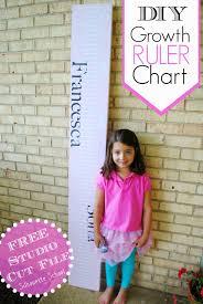 Diy Growth Ruler Chart Tutorial Free Silhouette Studio Cut