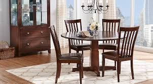 image of walnut round kitchen table sets