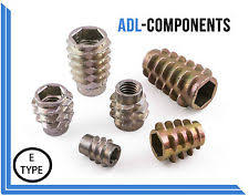 type of wood furniture. m4 m5 m6 m8 m10 threaded type e wood furniture insert nuts fixings not flanged type of wood furniture