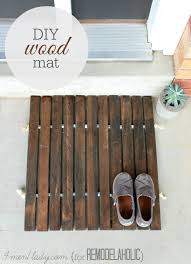 diy wood stake door mat